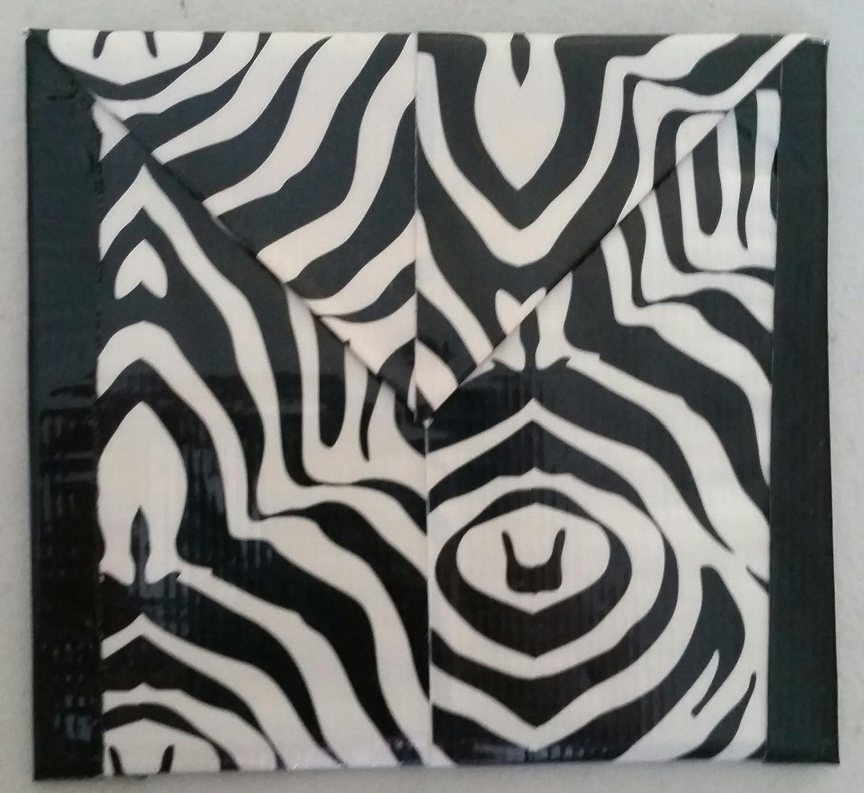 White Zebra Print Coin Pouch