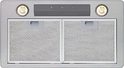 CATA GL 45 X Encastrada Acero inoxidable 700m³/h C - Campana (700 m³/h, Canalizado, D, B, B, 65 dB): Amazon.es: Grandes electrodomésticos