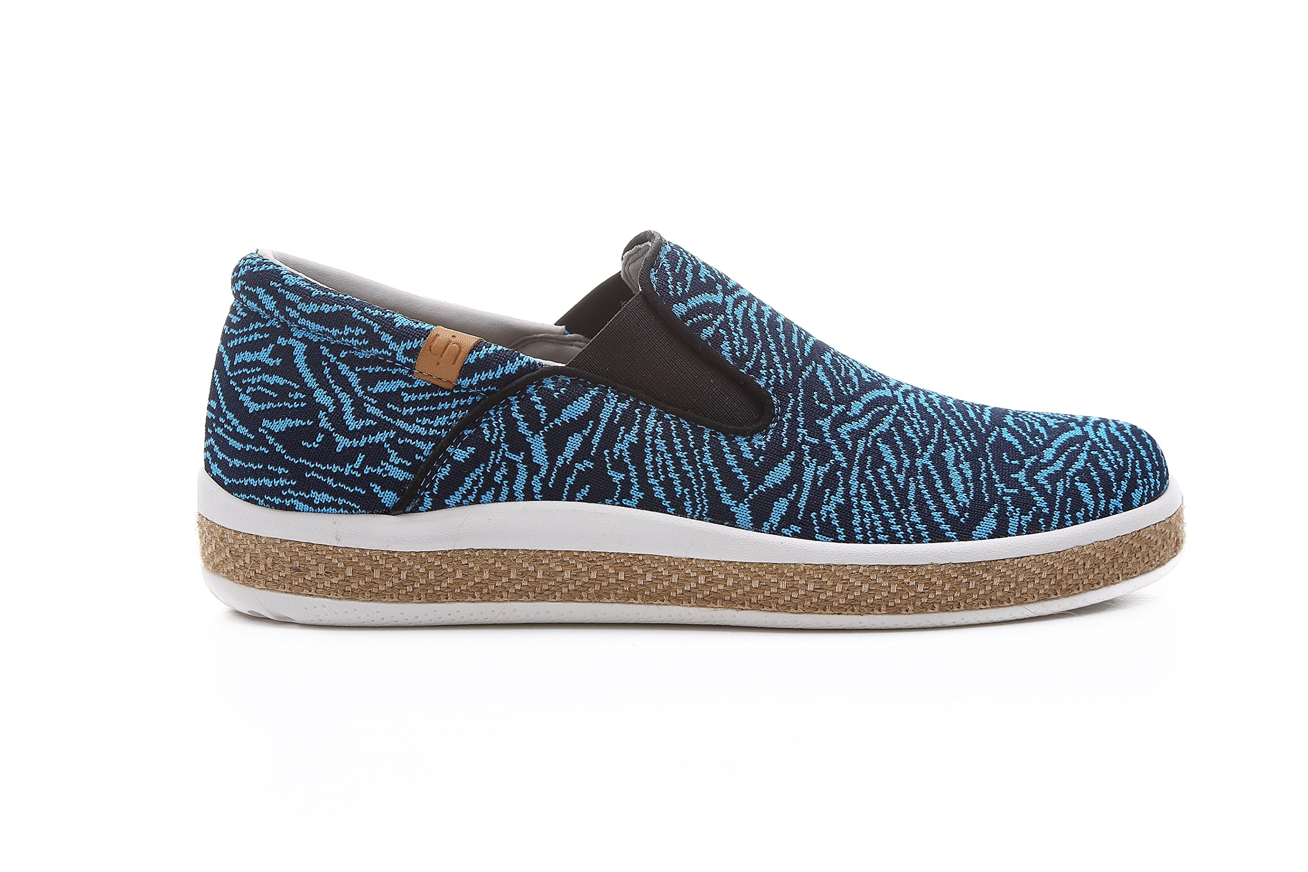 UIN Men's Tijuana Comfort Knit Travel Shoes Blue (8.5) by UIN (Image #4)