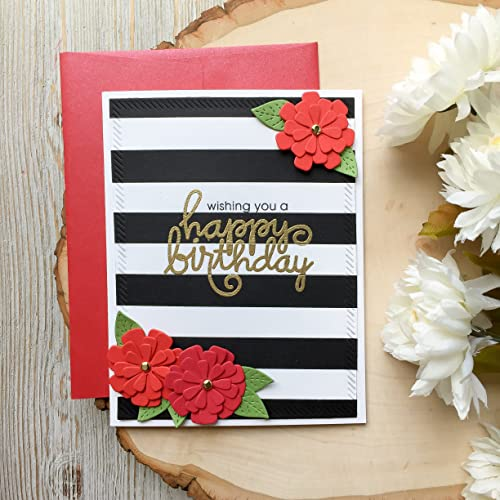Gold Birthday Card Handamde Cards Black White Stripes Happy