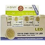 ECOLIGHT GU10 LED SMD 5050 BULB - 5 / 40 Watts Super Bright COOL WHITE