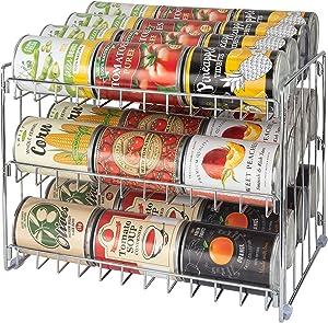 Kitchen Details, Chrome 3 Tier Can Storage Rack, Pantry Organization, Maxamize Cabinet Space