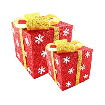Amazon De Deko Geschenkpaket Geschenk Box Geschenk Schachtel Set