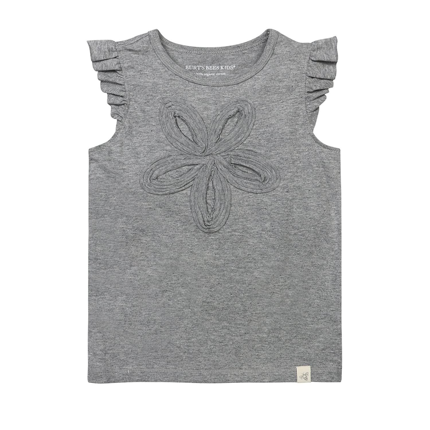 Burt's Bees Baby Girl's Short Sleeve and Sleeveless Tees, Tank Tops, 100% Organic Cotton