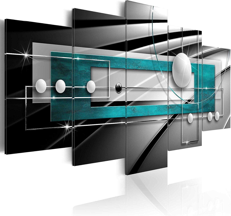 murando - Cuadro en Lienzo 200x100 cm Abstracto Impresión de 5 Piezas Material Tejido no Tejido Impresión Artística Imagen Gráfica Decoracion de Pared Arte Balla a-A-0209-b-p