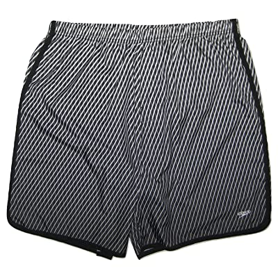 Speedo Men's Swim Trunks - Diagonal Grid Aqua Volley, Granite, X-Large: Clothing