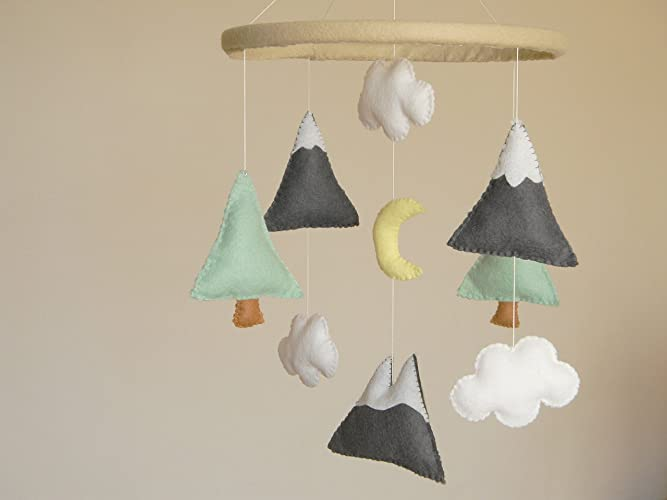 Mountains Baby Mobile, Baby Crib Mobile, Modern Nursery mobile, Felt  Mountains and Tree - Amazon.com: Mountains Baby Mobile, Baby Crib Mobile, Modern