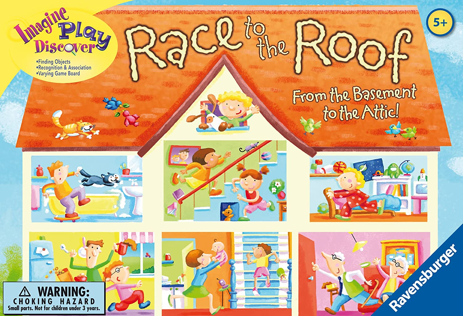 amazon com ravensburger race to the roof children u0027s game toys