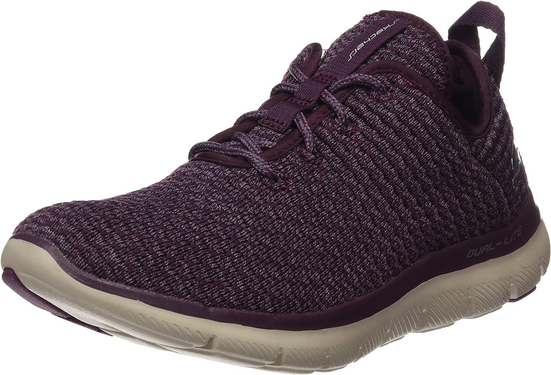 [スケッチャーズ] Womens Flex Appeal 2.0 Bold Move Low Top Lace Up Walking Shoes [並行輸入品] プラム 10 B(M) US