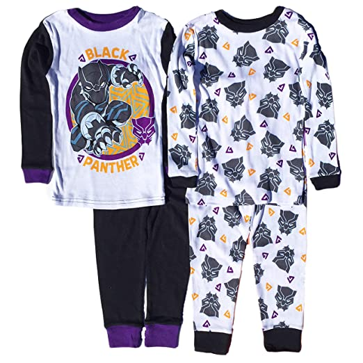 67b049aede Amazon.com  AME Black Panther Little Boys 4 Pc Long Sleeve Cotton ...