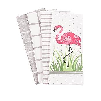 KAF Home Pantry Flamingo Kitchen Dish Towel Set