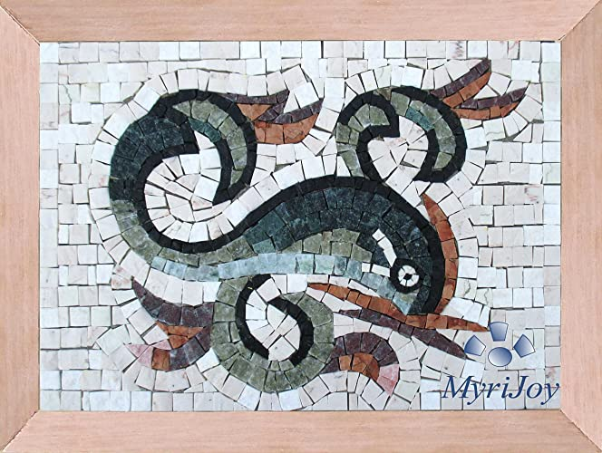 DIY Mosaic craft kit Dolphin Italian marble mosaic tiles - Make your ...