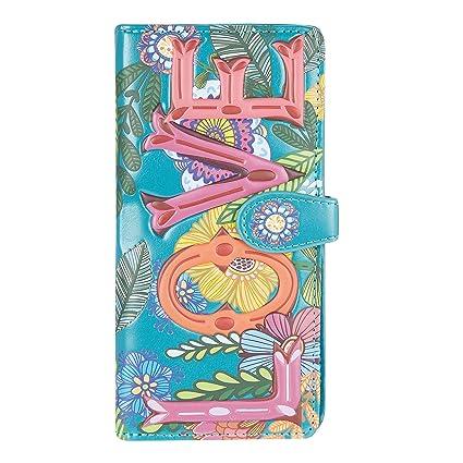 Shagwear Monederos para mujeres jóvenes: Varios colores y diseños: (Amor/ Love Floral)