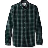 Goodthreads Amazon Men's Brand Slim-Fit Long-Sleeve Poplin Shirt Plaid