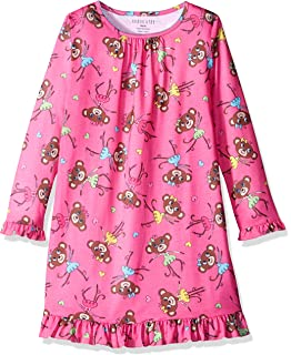 Komar Kids Girls Big Long Sleeve Jersey Nightgown