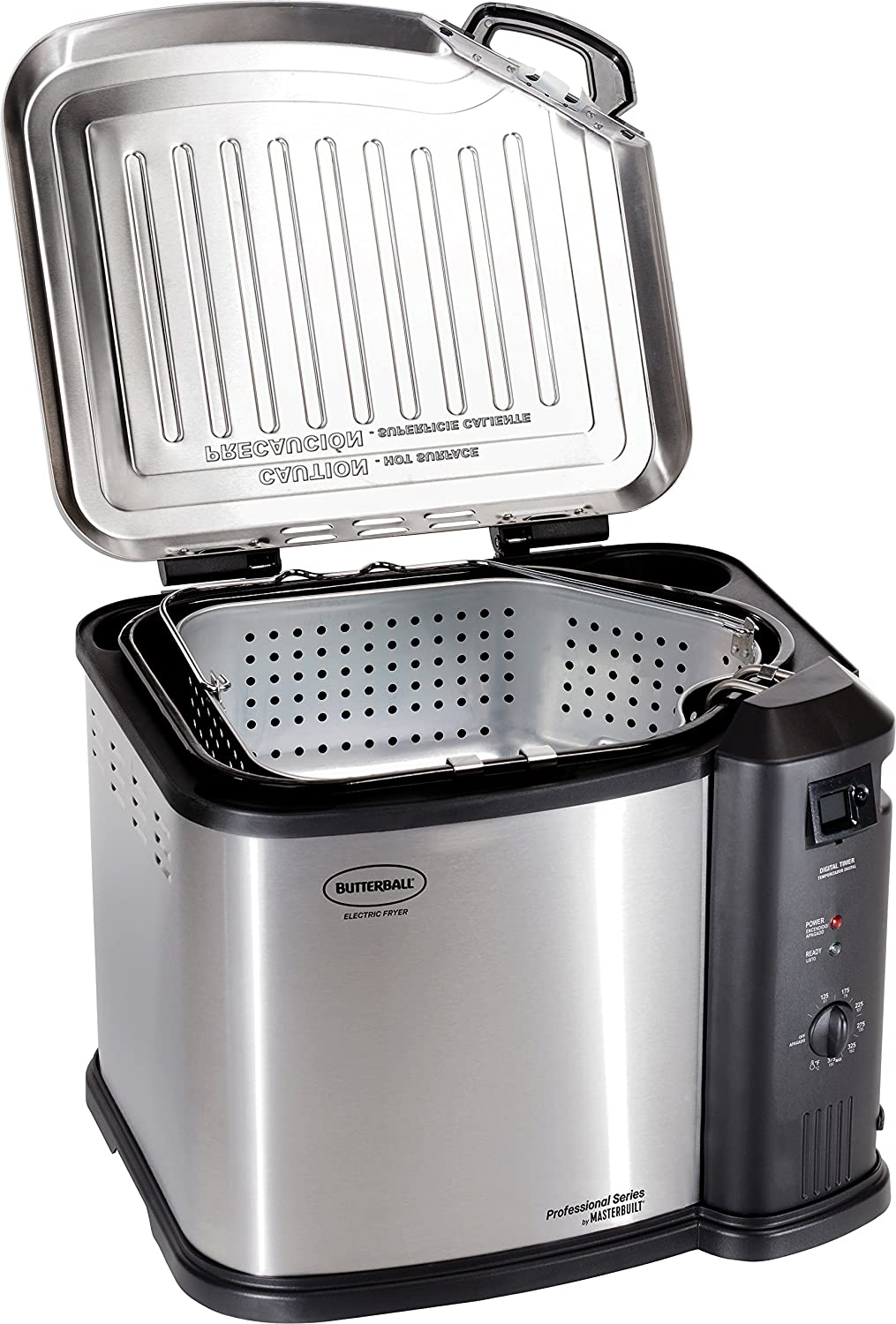 Butterball MB23010618 Masterbuilt Fryer, XL, Stainless Steel