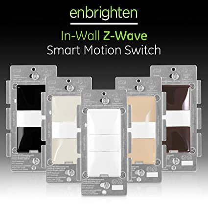 GE, White & Light Almond, Enbrighten Z-Wave Plus Smart Motion Light on