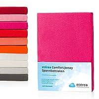 Etérea Jersey Spannbettlaken Spannbetttuch Bettlaken in Allen Farben und Größen