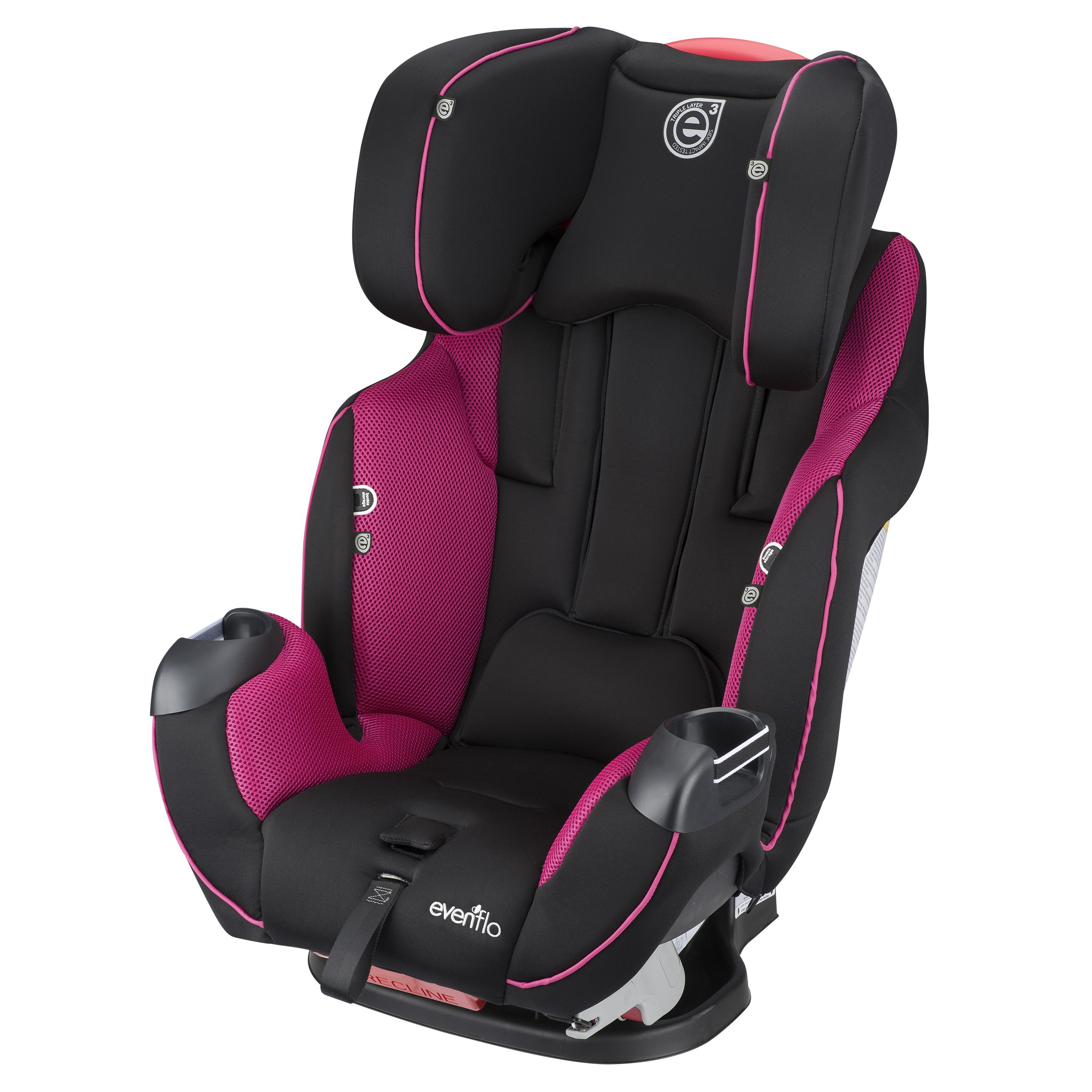Evenflo Symphony Elite All In One Convertible Car Seat Raspberry Sorbet