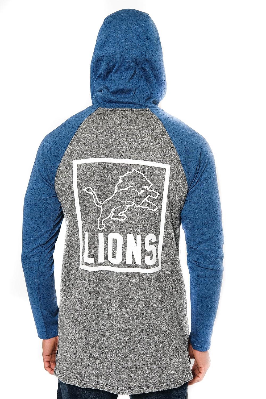 innovative design bf43b 4b50c Ultra Game NFL Detroit Lions Men's Fleece Hoodie Pullover Sweatshirt  Henley, Team Color, Royal, X-Large