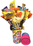Candy Bouquet Fun Sized! Mini Candy Variety Assortment - Birthday Gift - Get Well Soon - Thank You - Easter