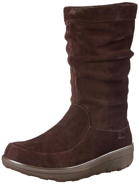 FitflopLoaff Slouchy Knee - Botas de invierno forradas de media caña para mujer: Amazon.es: Zapatos y complementos