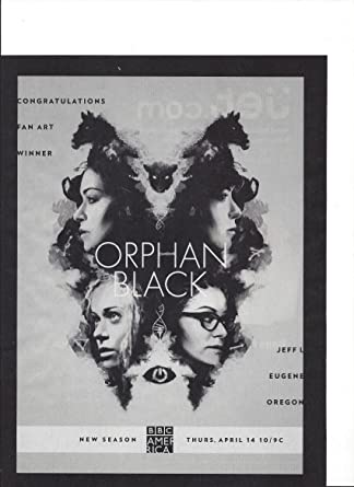 Amazoncom Print Ad With Cast Of Orphan Black 2016 Tv