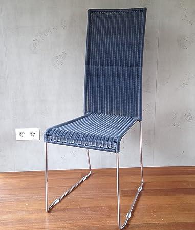 Ploß Korbsessel Polyrattan Esszimmer Stuhl Loom Optik grau: Amazon ...