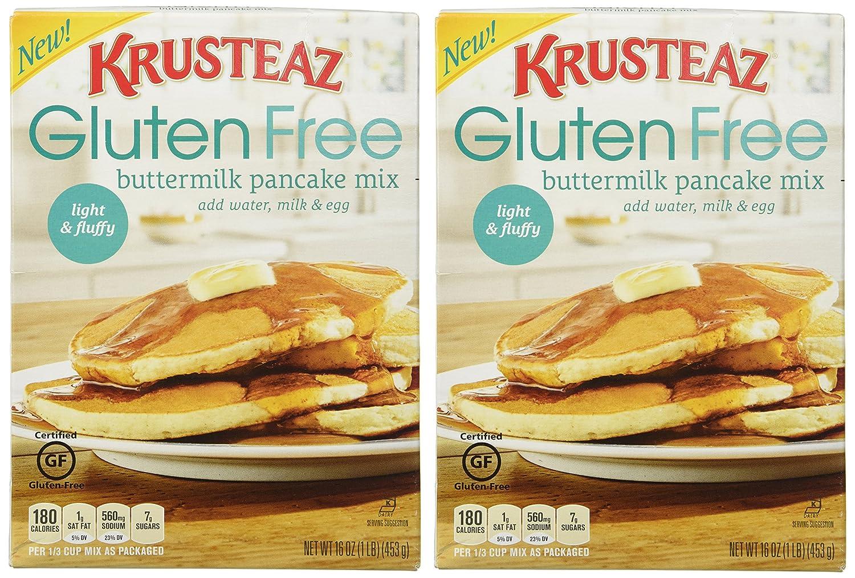 Amazon krusteaz gluten free pancake mix buttermilk 16oz amazon krusteaz gluten free pancake mix buttermilk 16oz box pack of 2 grocery gourmet food ccuart Gallery