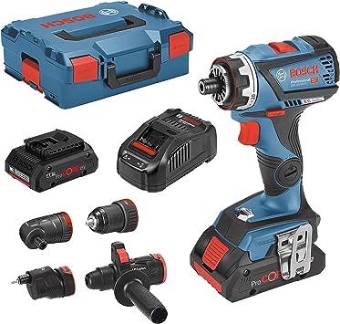 GSR - Taladro atornillador inalámbrico (18 V, 60 FC, 2 baterías de 4 Ah): Amazon.es: Bricolaje y herramientas