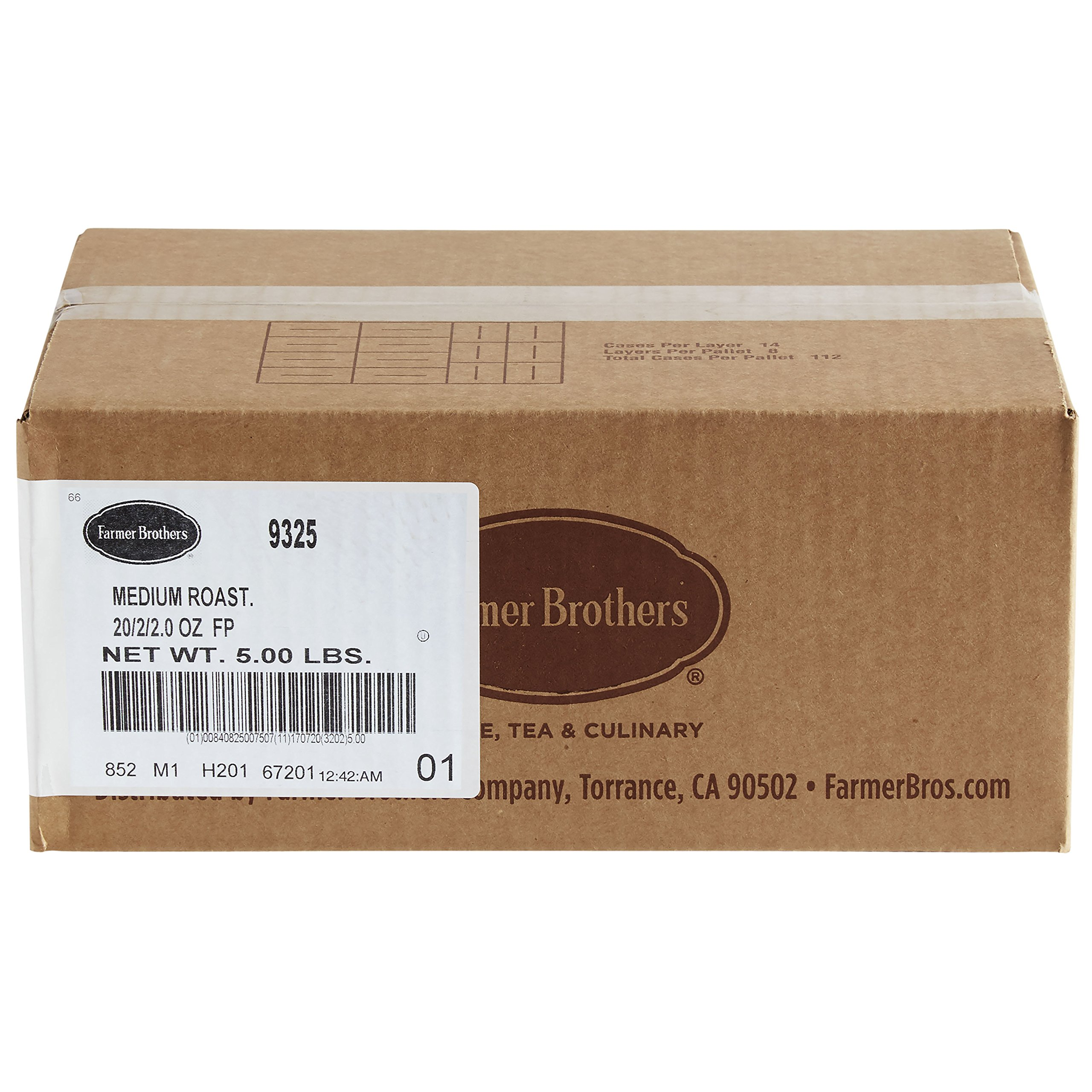 Farmer Brothers Coffee - Ground Medium Roast 2 Oz Filterpack (Bulk 40 Pack - $1.09 cost per pack)