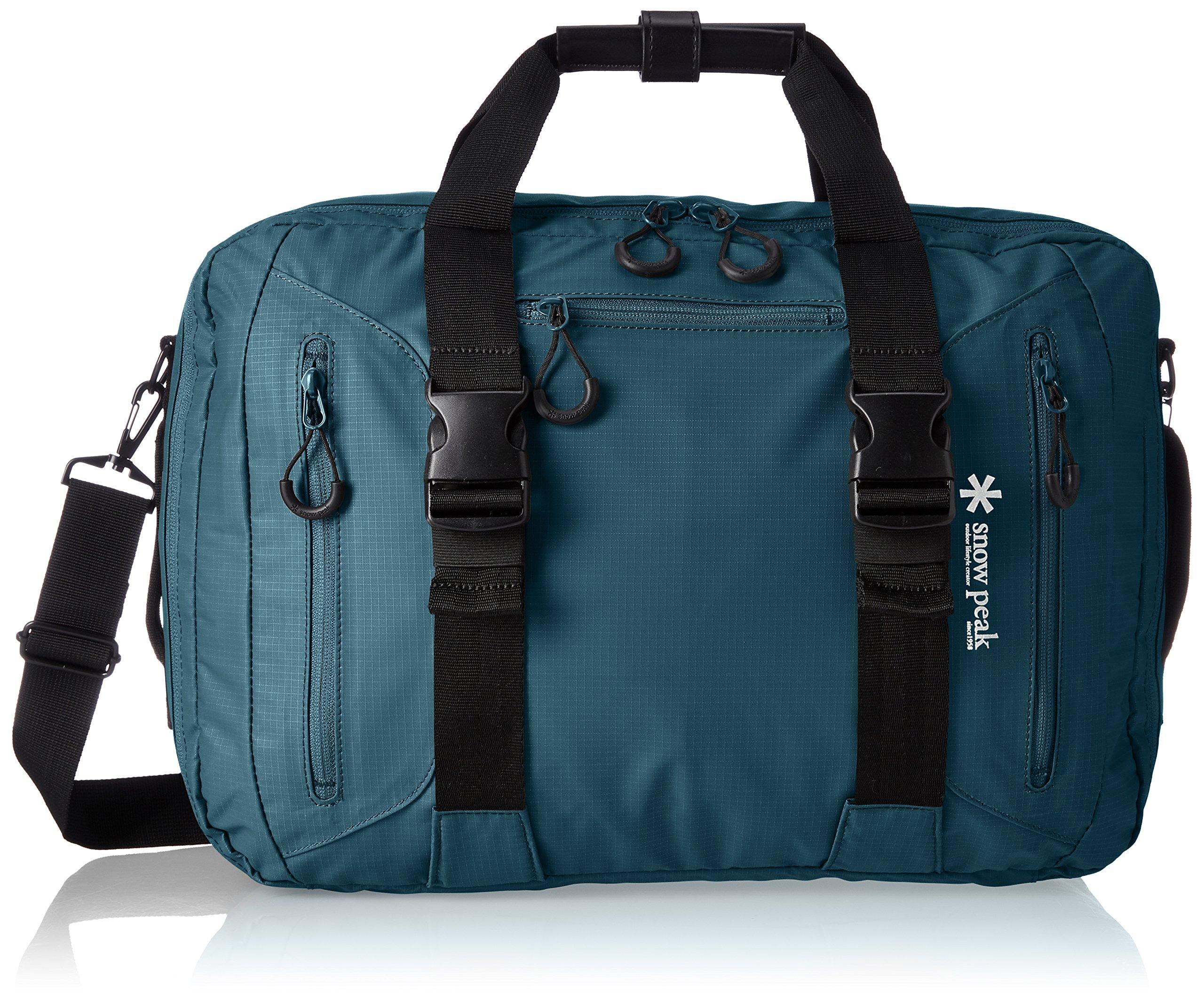 Snow Peak 3Way Business Bag Blue, One Size