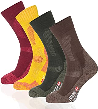 Merino Wool Hiking & Trekking Socks (Forest Green 1 Pair, US Women 5-
