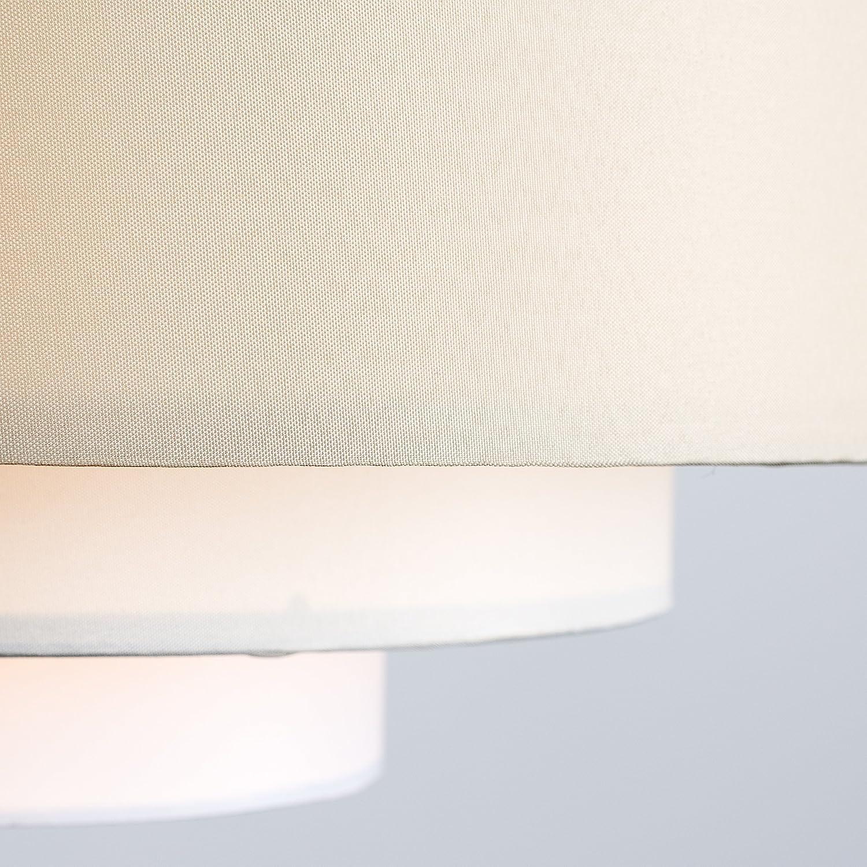 f/ür H/änge- und Pendelleuchte cremewei/ßen und wei/ßen Finish Moderner und 5-stufiger /'Hampshire/' Lampenschirm mit einem 3-farbigen cremefarbigen MiniSun