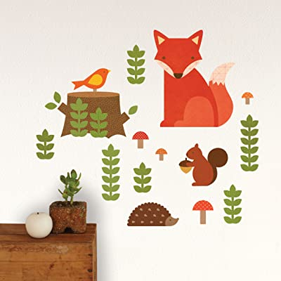 Amazon petit collage wall decal woodland nursery wall petit collage wall decal woodland gumiabroncs Choice Image