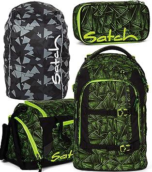 Satch Pack Green Bermuda Schulrucksack Set 2tlg.