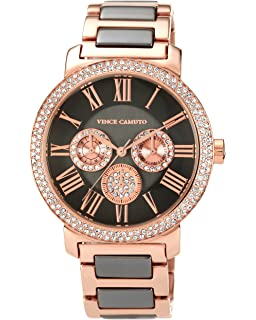 Vince Camuto Womens VC/5001RGTT Swarovski Crystal Accented Brown and Rosegold-Tone Multi-