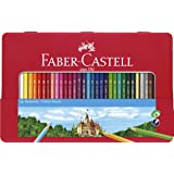 Faber-Castell Classic Color Pencil Tin Set 48 Count Multicolor