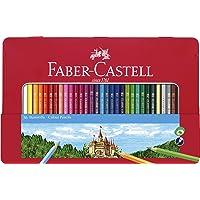 Faber-Castell Klassieke gekleurde potloden Tin Set, 48 levendige kleuren in stevige metalen behuizing - Premium Children…