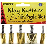 Kemper Klay Kutters Triangle Set 5PC Clay Cutters Just Like Cookie Cutters!