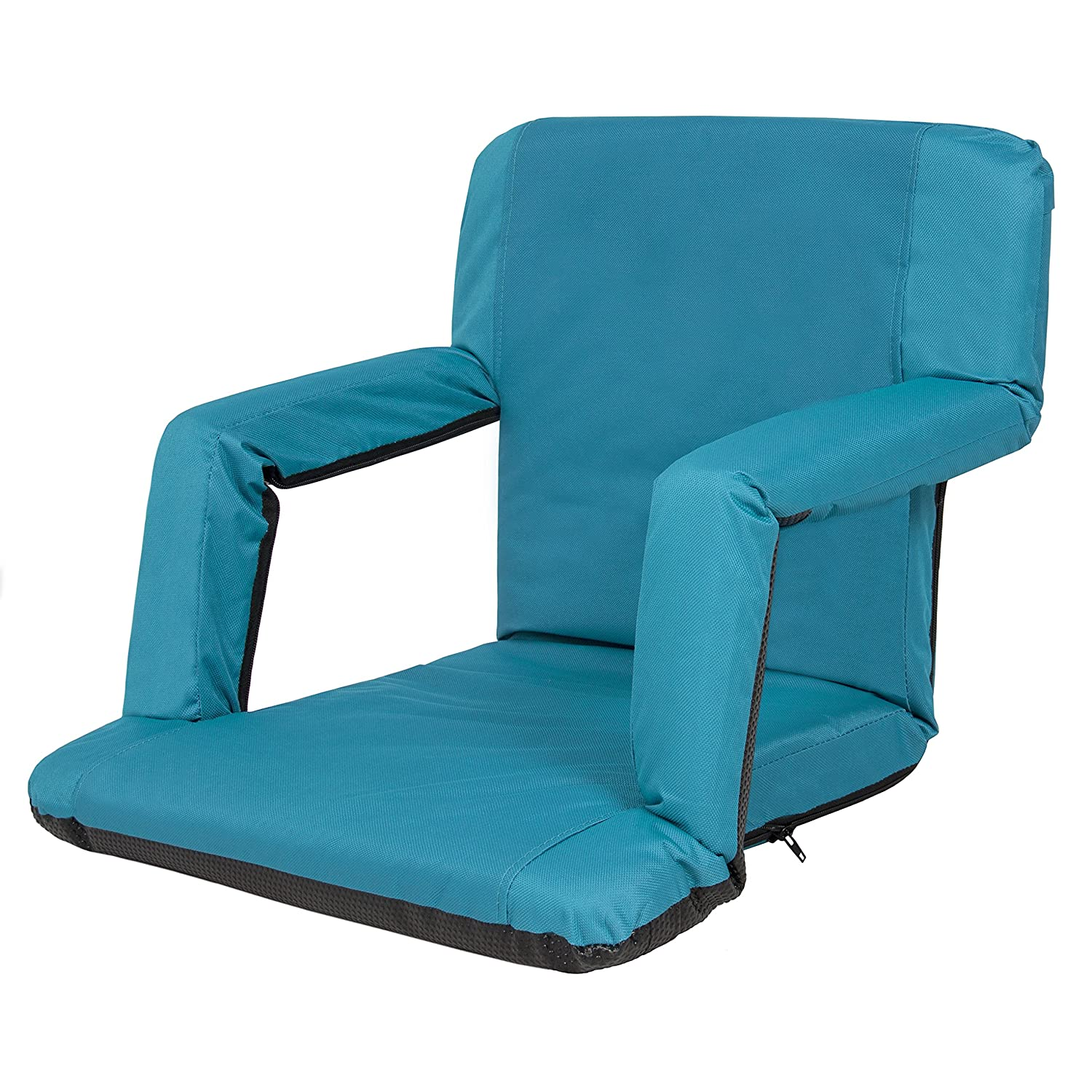 Amazon.com : Best Choice Products Portable Reclining Seat Polyester Padded  Cushion Caming Outdoor Beach Chair Blue : Garden U0026 Outdoor