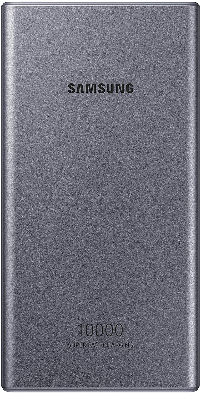 Samsung 10,000 mAh Super Fast 25W Portable Charger Battery Pack USB-C , Silver (US Version with Warranty)