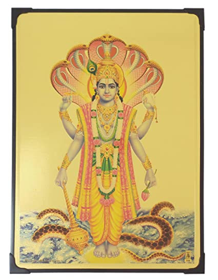 Buy Lord Vishnu Photo Frame ( 30.5 cm x 22.5 cm x 1 cm ) / Wall ...
