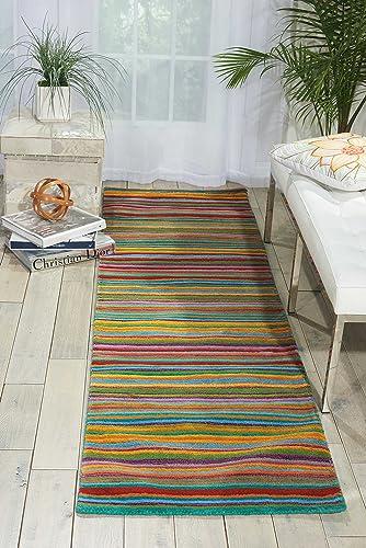 Nourison Skyland Stripe Runner Area Rug, 2-Feet 3-Inches by 8-Feet 2 3 x 8