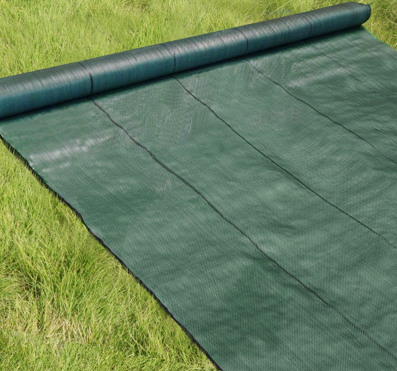 高密度135G 防草シート 2m×100m モスグリーン (日本製抗菌剤入り/厚手高耐久4-6年) B07FTG62G4 モスグリーン 2m×100m