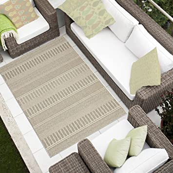 Tapiso Teppich Wohnzimmer Küche Sammlung Cottage U2013 Aspekt Sisal Gewebt  Geometrischen Linien Braun 160 X 230