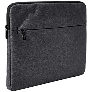 "AmazonBasics Laptop Sleeve with Front Pocket, 13"", Grey"
