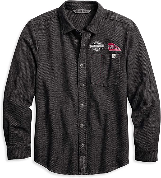 Harley-Davidson - Camisa con botones para hombre