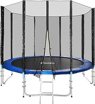 TecTake Cama elástica trampolín para Jardin con Red de Seguridad Escalera - Varias tamaños - (Ø 305cm | No. 401332): Amazon.es: Deportes y aire libre