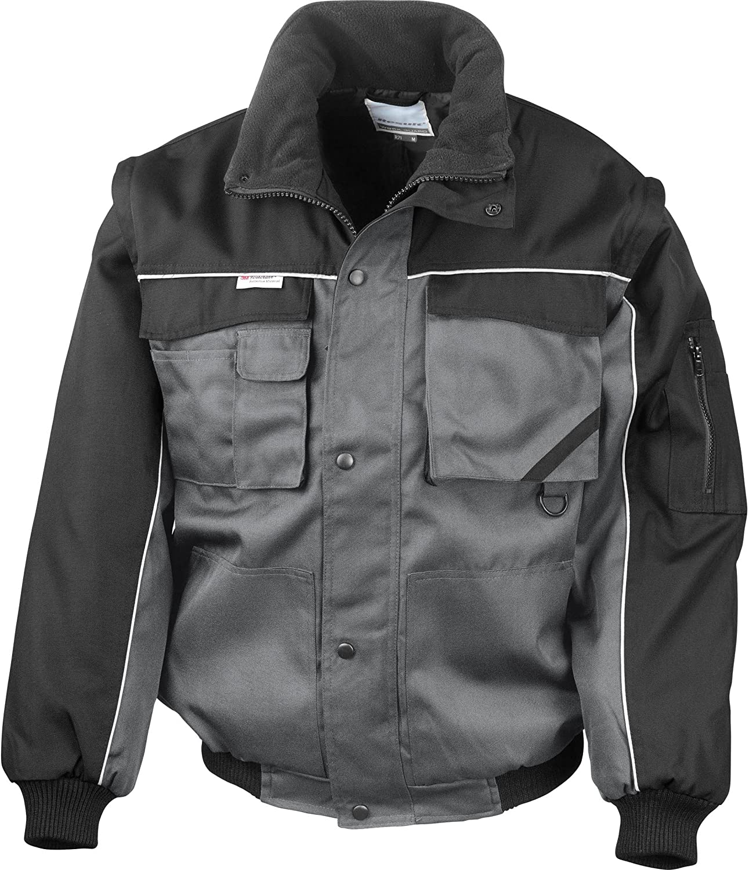 Result Work-Guard zip sleeve heavy duty pilot jacket - RE71A